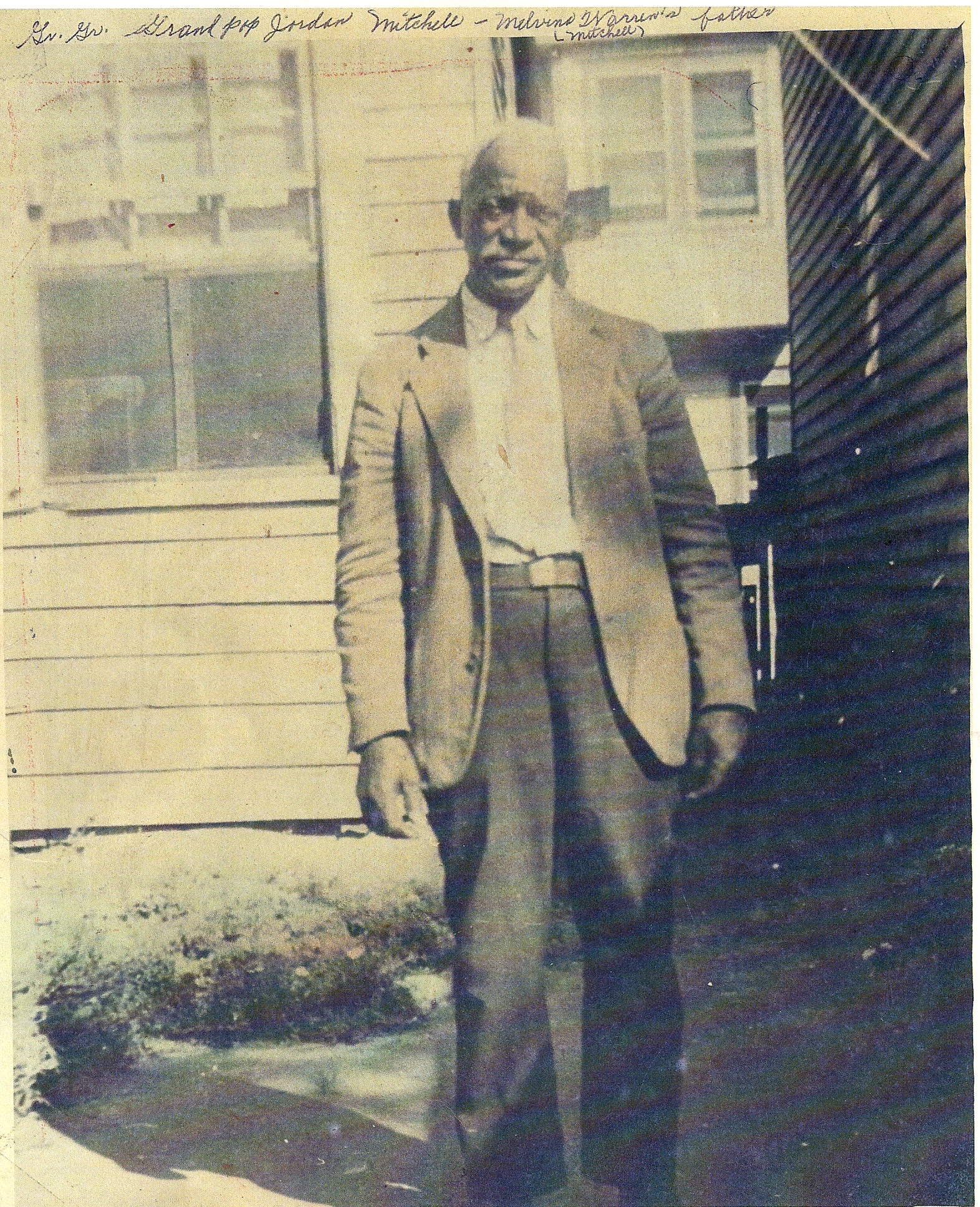 Jordan Mitchell, Kim Pearson's great-grandfather