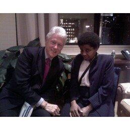 Former President Clinton and Kim Pearson