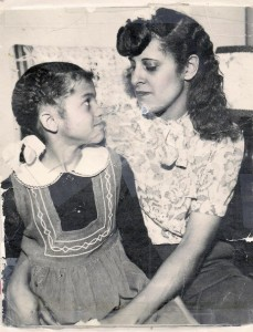 Mommy with her Aunt Gladys, whom she learned to call Mother