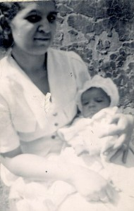 My mother's mother and one of her babies. My mother was probably a toddler when this was taken.