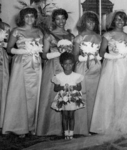 I was the flower girl, Mom was the bridesmaid