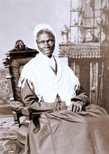 "Sojourner Truth sold these ""cartes de visite"" at public appearances, bearing the caption, ""I see the shadow to support the substance."""