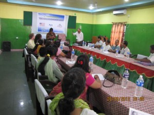 Conversing with civil society leaders in Biratnagar, Nepal.