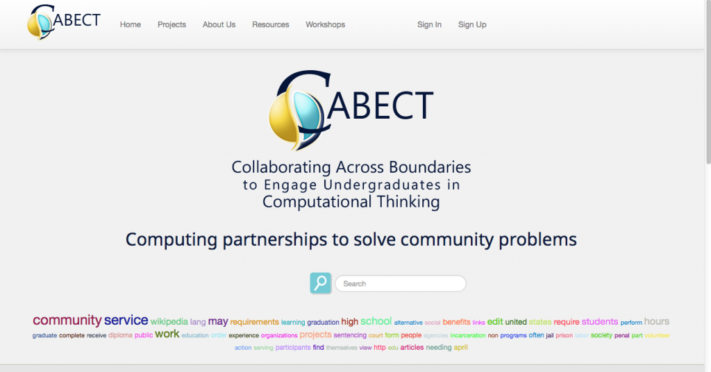 The CABECT project is supported by a grant from The National Science Foundation.
